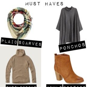 Fall to Winter Transition MustHaves