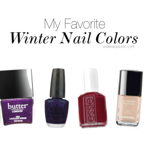 My Favorite Winter Nail Colors
