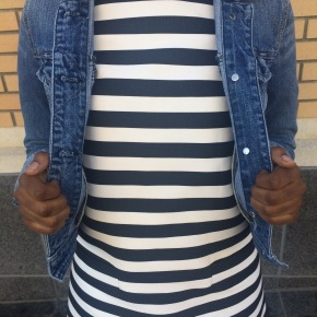 What I Wore: Denim + Stripes